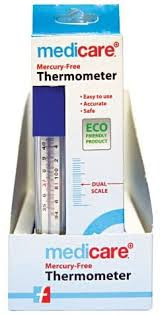 Most of the mercury-in-glass thermometer, though, have dual scales.