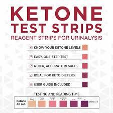 how to read ketone test strips