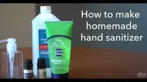 How to Make Hand Sanitizer homemade